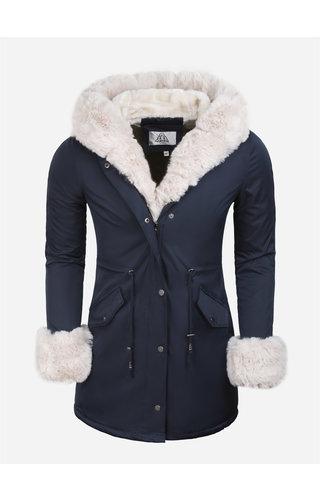 Artika Icewear Winterjas Dames L524-2062 Blue Beige