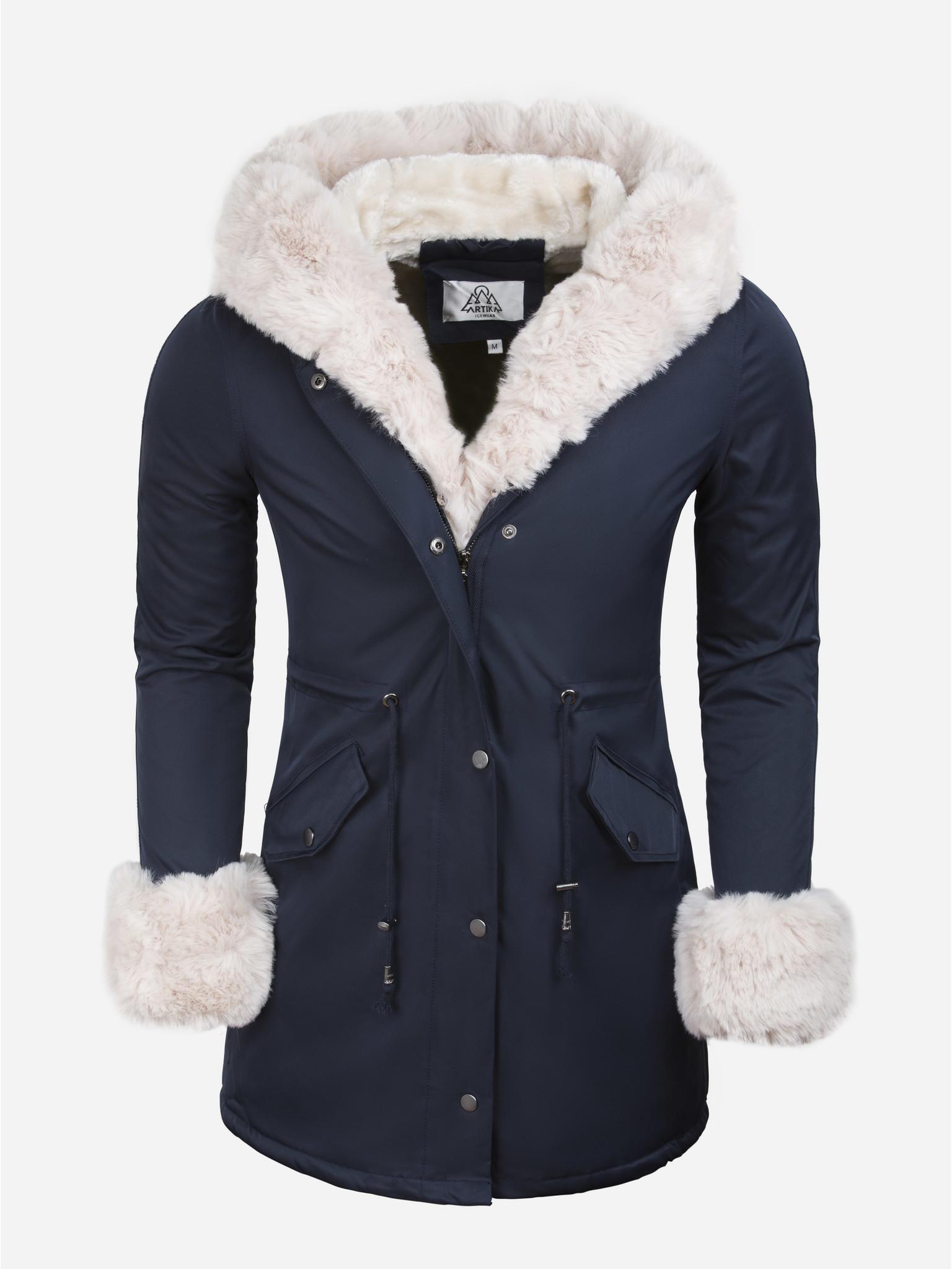 Artika Icewear Winterjas Dames L524-2062 Blue Beige Maat: XL