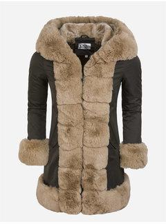 Arya Boy Winter Coat Ladies L816-11031 Green Camel