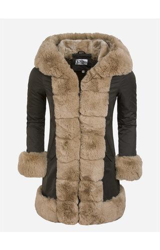 Artika Icewear Winter Coat Ladies L816-11031 Green Camel