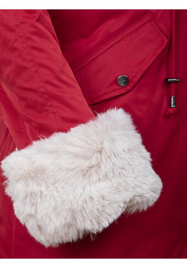 Winterjas Dames L524-1662 Red Beige