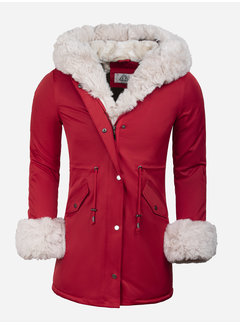 Arya Boy Winter Coat Ladies L524-1662 Red Beige