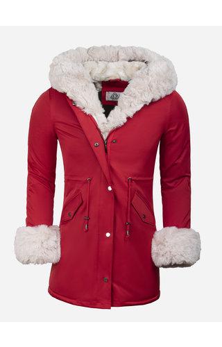 Artika Icewear Winterjas Dames L524-1662 Red Beige