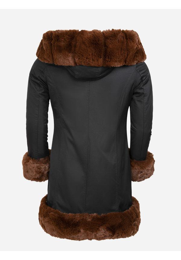 Winterjas Dames L816-1030 Black Camel