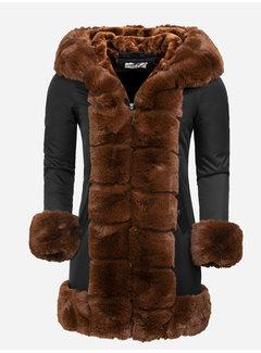 Arya Boy Winterjas Dames L816-1030 Black Camel