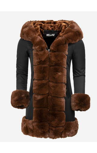 Artika Icewear Winter Coat Ladies L816-1030 Black Camel