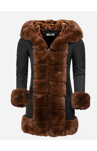 Artika Icewear Winterjas Dames L816-1030 Black Camel
