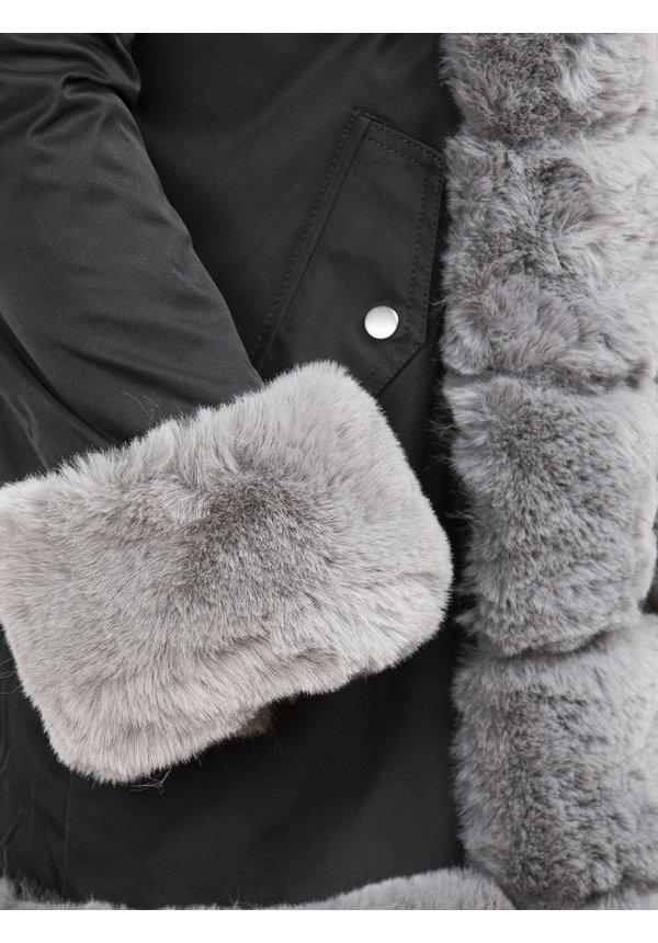 Winterjas Dames L816-1023 Black Grey