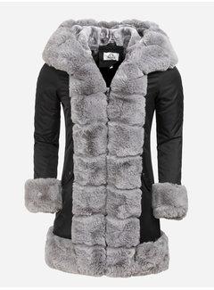Arya Boy Winter Coat Ladies L816-1023 Black Grey