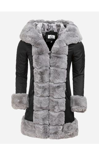 Artika Icewear Winterjas Dames L816-1023 Black Grey