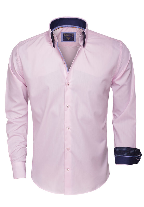 Overhemd Lange Mouw 85259 Pink