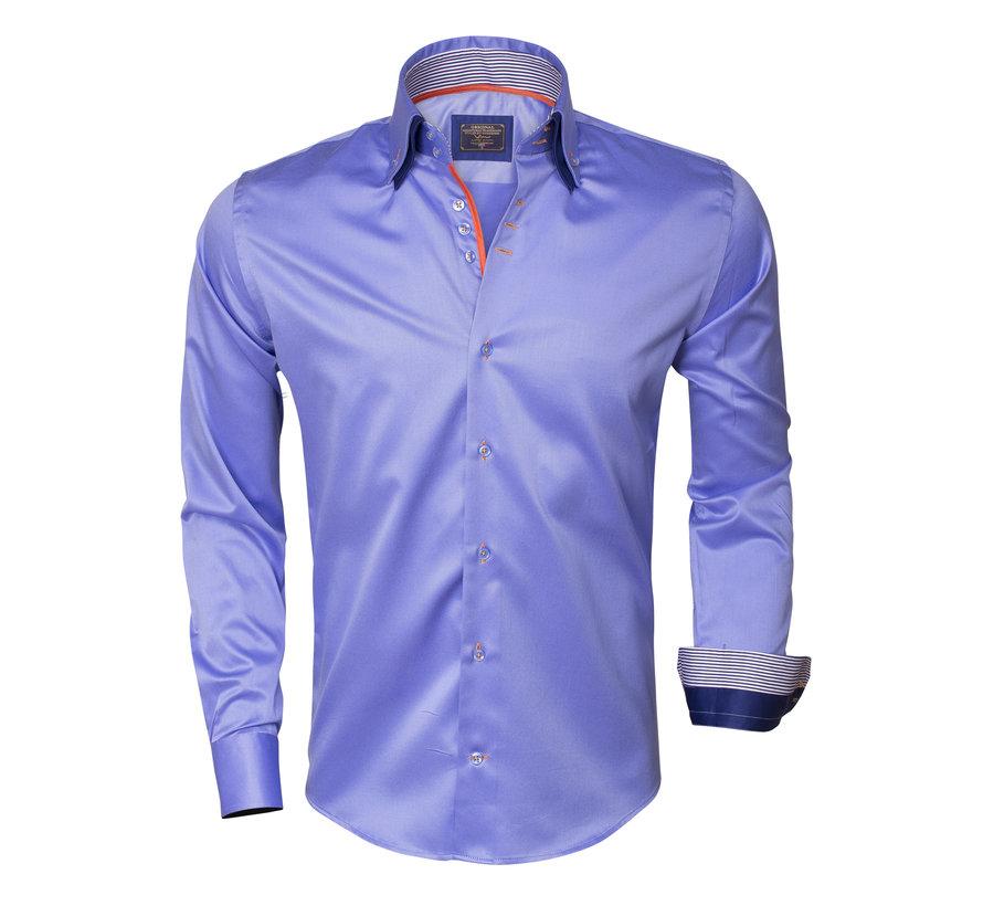 Overhemd Lange Mouw 75306 Dark Blue