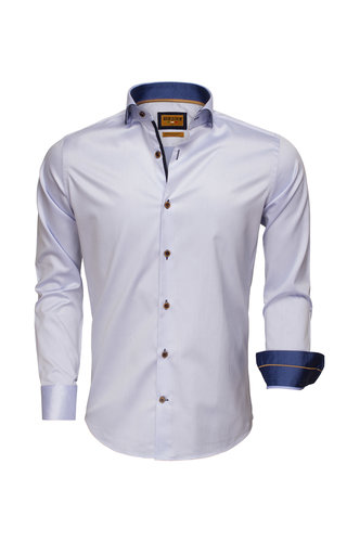 Wam Denim Overhemd Lange Mouw 75508 Light Blue