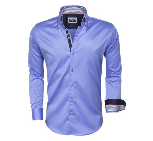 Wam Denim Overhemd Lange Mouw 75480 Blue
