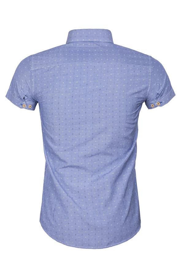Overhemd Korte Mouw 65037 Olbia Royal Blue