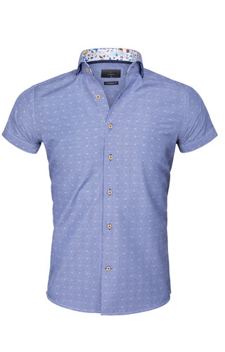 Gaznawi Shirt Short Sleeve 65037 Olbia Royal Blue