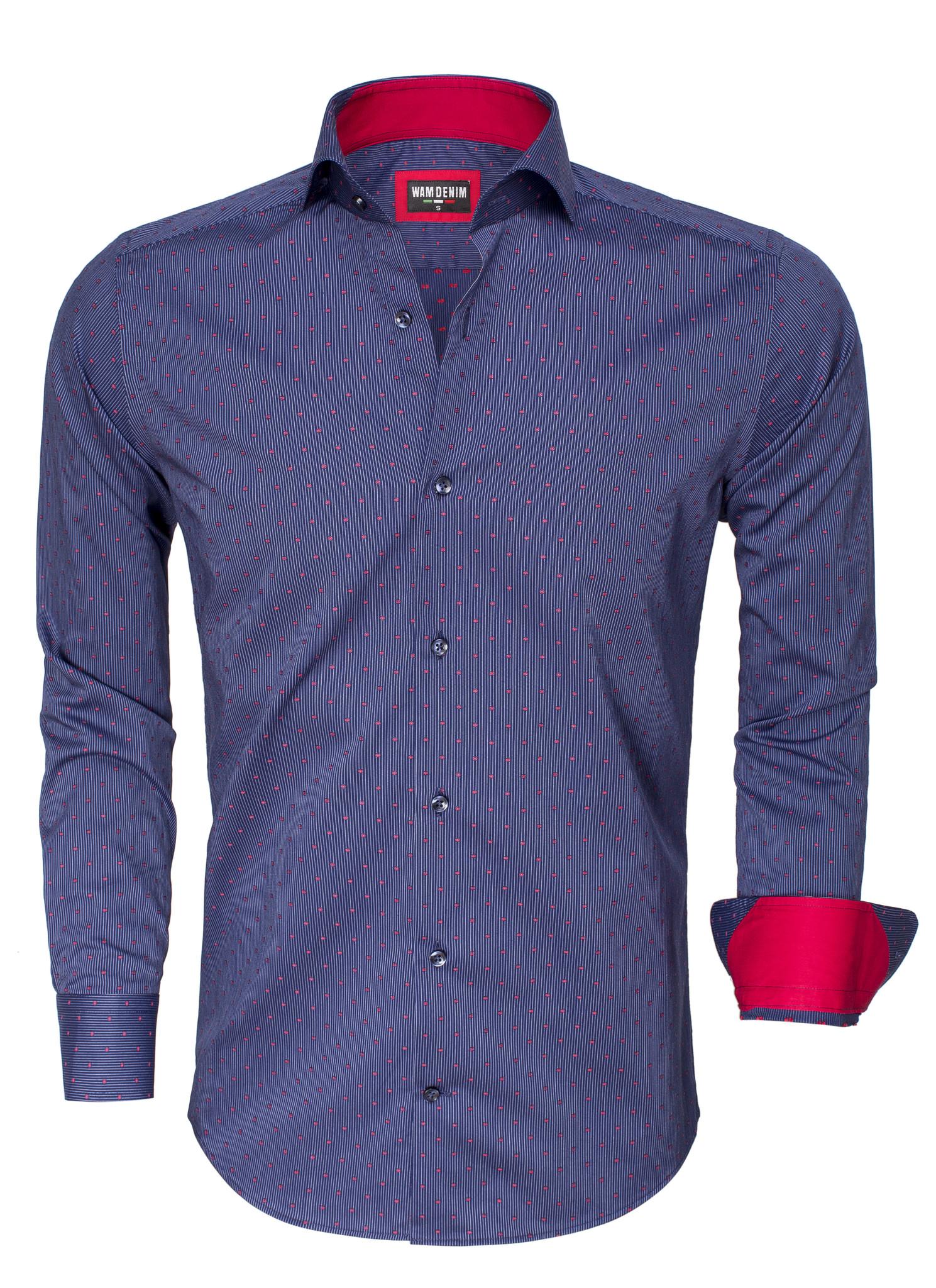 Overhemd Lange Mouw  75494 Navy Red