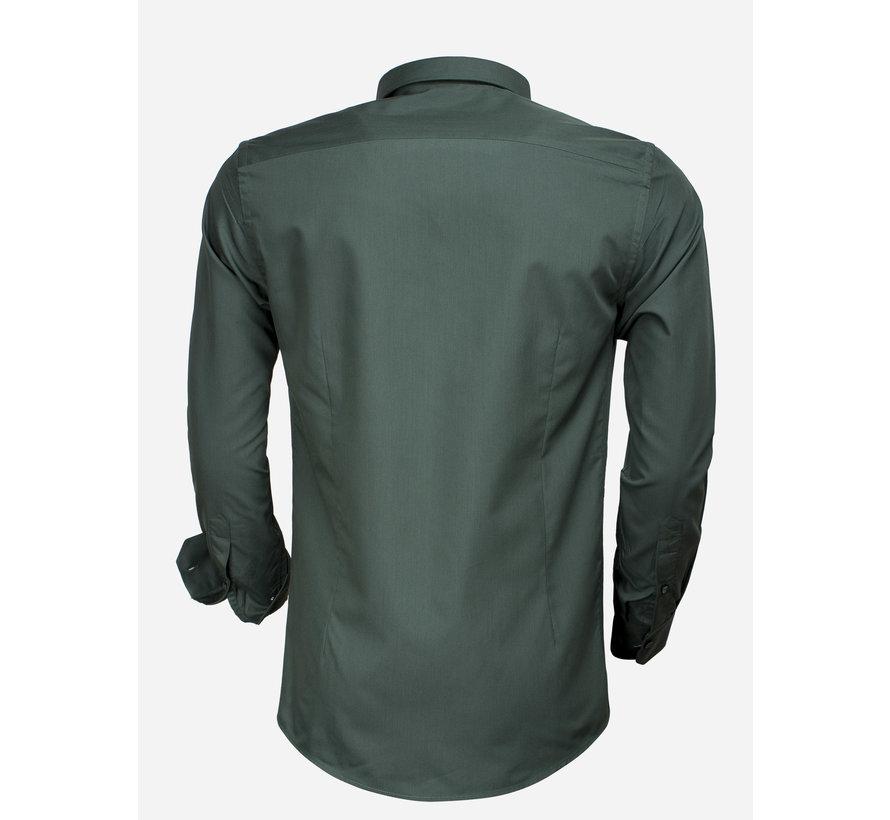 Overhemd Lange Mouw 65008 Green