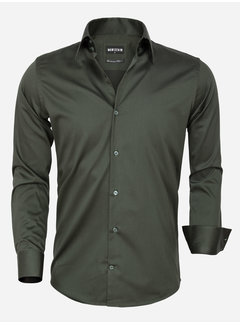 Wam Denim Overhemd Lange Mouw 75565 Dark Green