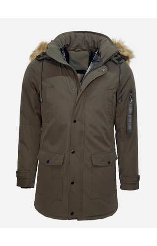 Enos Winter Coat PI-7102 Army Green