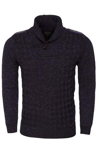 Wam Denim Sweater 77060 Navy Indigo