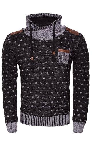 Wam Denim Sweater 77048 Black White