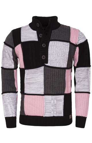 Wam Denim Sweater 77025 Black Pink