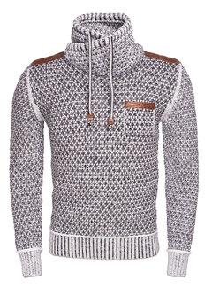 Wam Denim Sweater 77027 Anthracite Off White