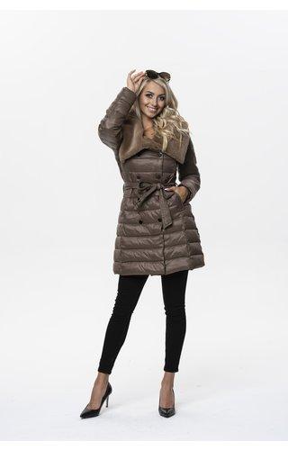 Winter Coat Ladies J9-018 Coffee