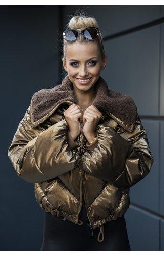 Winter Coat Ladies J9-016 Light Tan