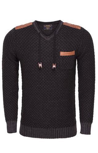 Wam Denim Sweater 77058 Anthracite Black