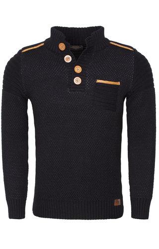 Wam Denim Sweater 77206 Black Anthracite