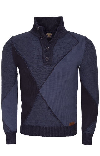 Wam Denim Sweater 77047 Navy Indigo