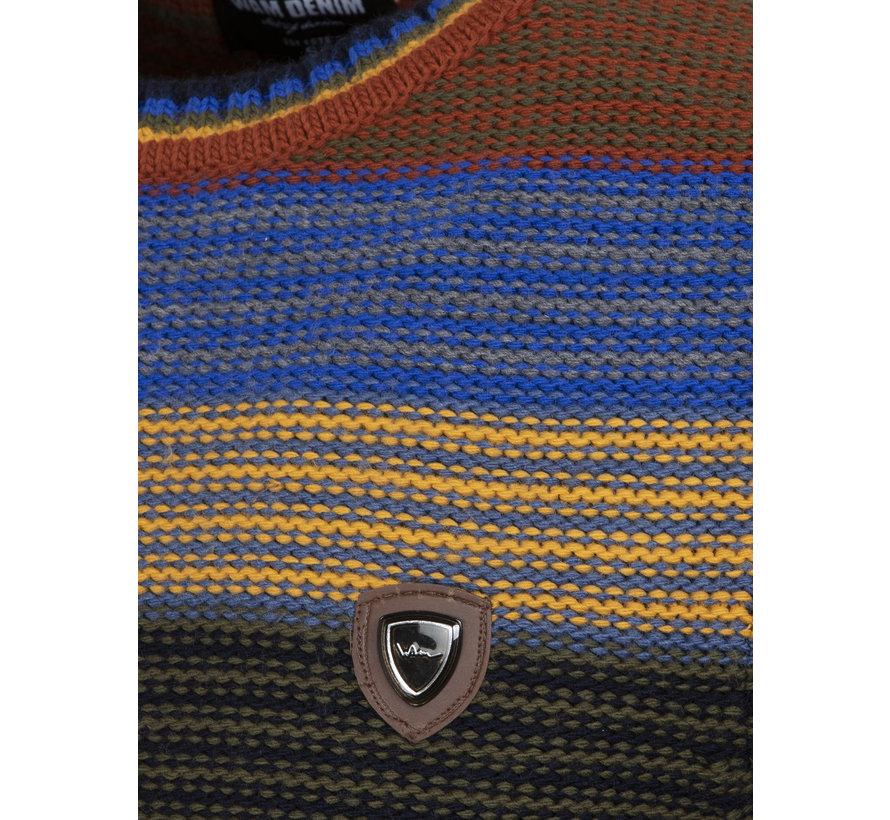 Sweater 77517 Puebla Royal Blue Yellow