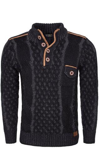 Wam Denim Sweater 77503 Black Anthracite