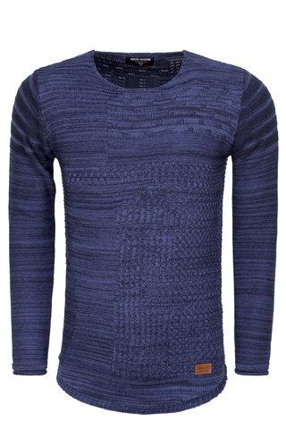 Wam Denim Sweater 77219 Navy Indigo