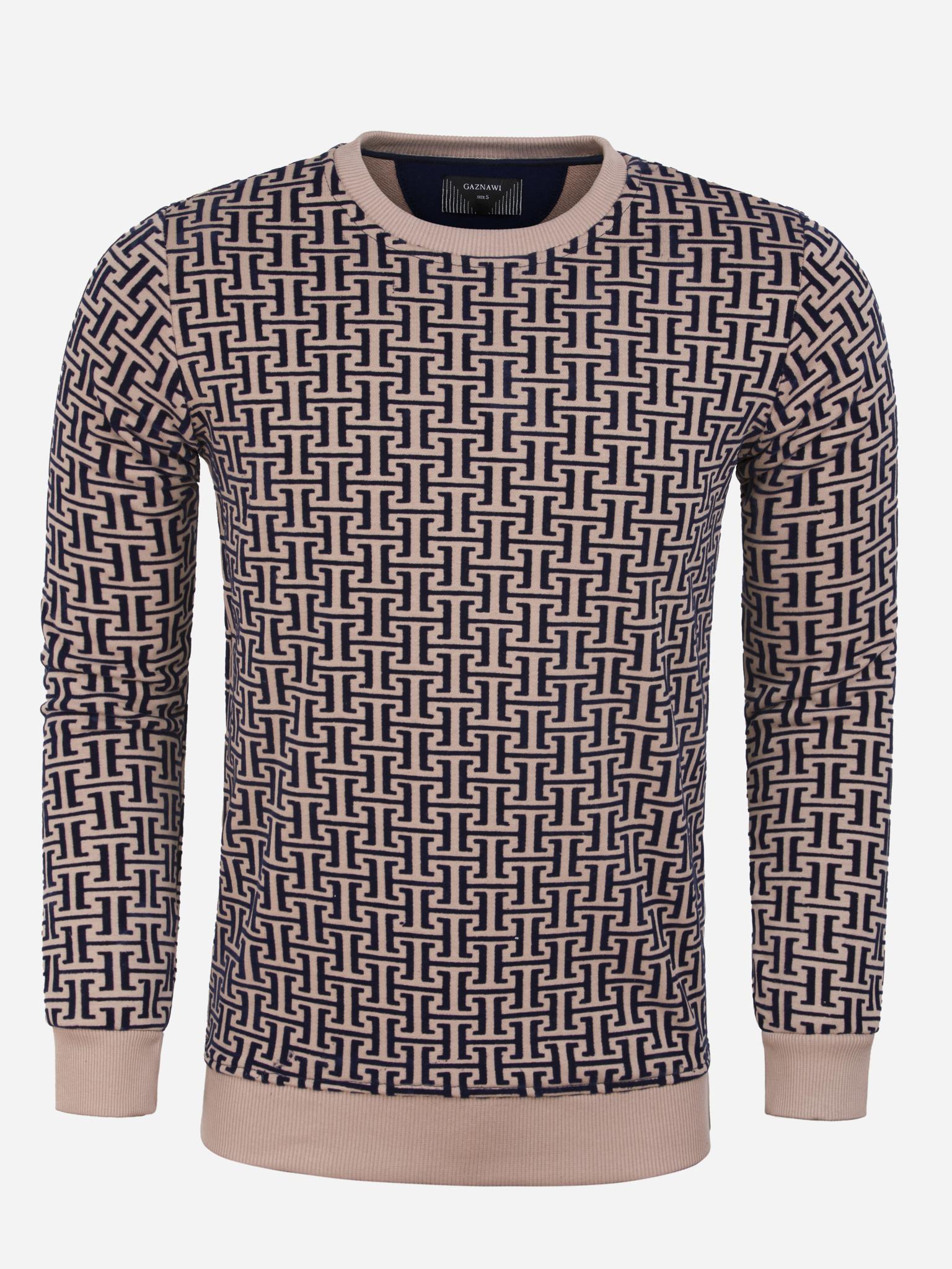 Gaznawi Sweater 66101 Koniz Beige Maat: 4XL