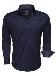 Wam Denim Overhemd Lang Mouw 75513 Navy