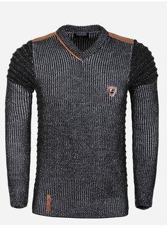 Wam Denim Sweater 77515 Tulum Black White