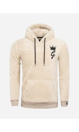 Gaznawi Teddy Bear Fleece Hoody/Sweater 66102 Off White