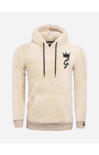 Gaznawi Teddy Bear Fleece Hoody / Sweater 66102 Off White