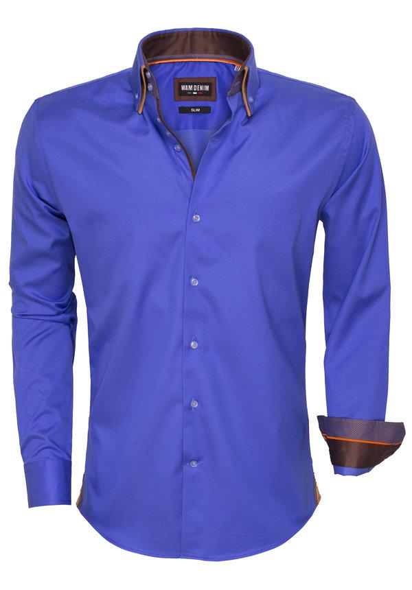 Overhemd  Lange Mouw 75421 Blue