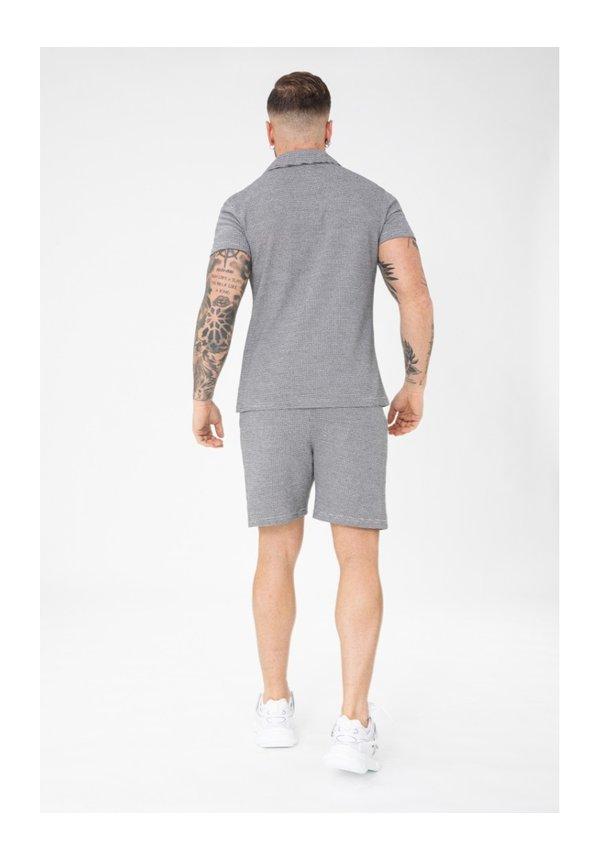 Polo en Short 1238-1 Grey