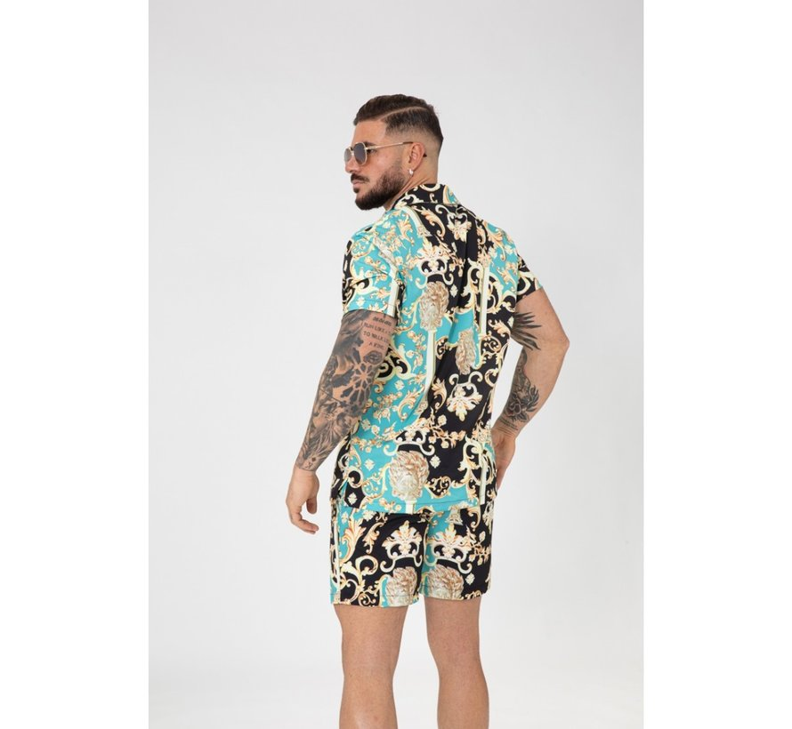 Shirt en Short Bm1212-14 Turqoise