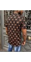 T-Shirt  UY583 Black Camel