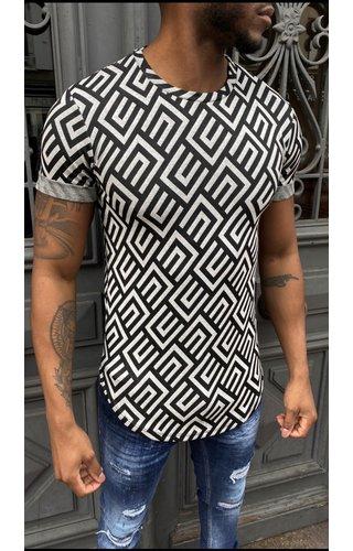 Wam Denim T-Shirt UY579 Black White