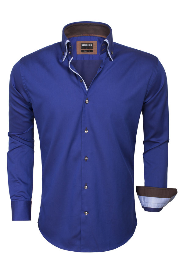Overhemd Lange Mouw  75464 Navy