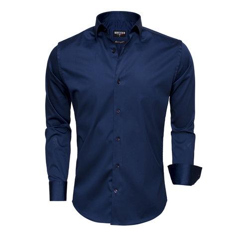 Wam Denim Overhemd Lange Mouw  75505 Navy