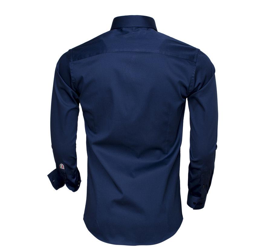 Overhemd Lange Mouw  75505 Navy