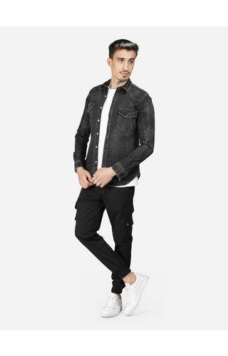 Wam Denim Overhemd Lange Mouw UY396 Black